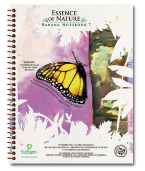 Monarch Recycled Organic Banana Paper Notebook