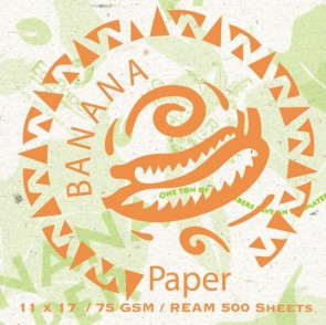 Banana Cover Stock Organic Tree Free Natural Paper 11 x 17