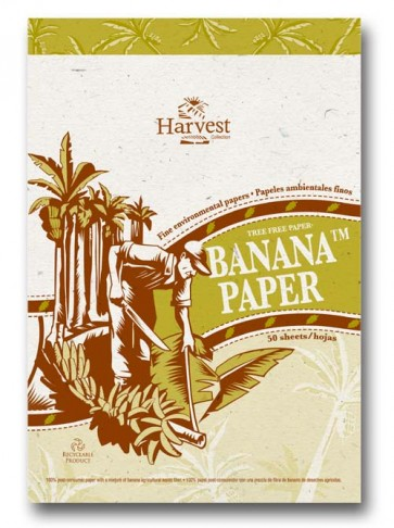 Tree-free paper Notebook /  Natural Note Pad Banana Paper
