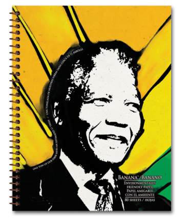 Nelson Mandela Tree Free Banana Paper Notebook