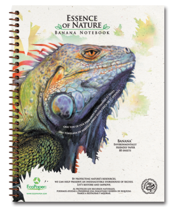 Iguana Recycled Organic Banana Paper Notebook