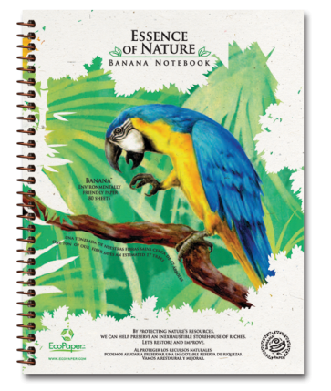 Macaw Recycled Organic Banana Paper Notebook