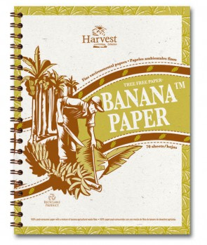 Tree Free Banana Paper Wire Bound  8.5 x 11 - Notebook