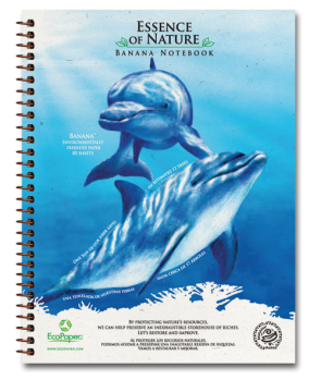 Dolphin Recycled Organic Banana Paper Notebook