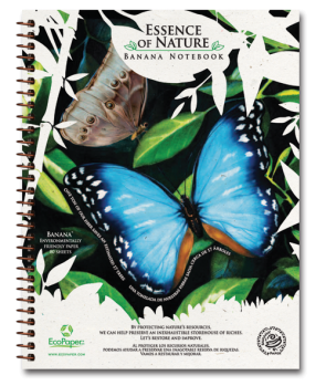 Blue Butterfly Recycled Organic Banana Paper Notebook